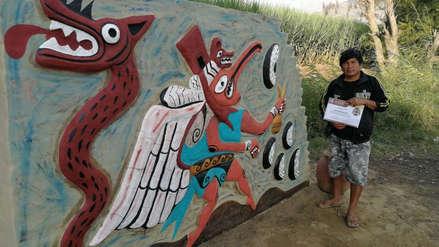 Revaloran la cultura de los antepasados a través de concurso de murales en Moche