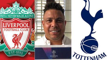 ¿Liverpool o Tottenham? Ronaldo Nazario sorprendió con su favorito para ganar la Champions League