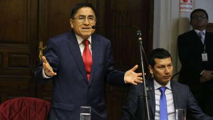 Hinostroza se pronuncia sobre caso de condenado a cadena perpetua que fue visto por su sala