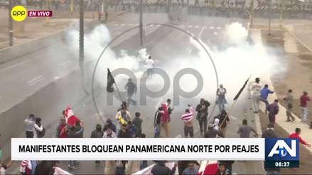 Policía y manifestantes se enfrentan en marcha contra el peaje en Puente Piedra [VIDEO]