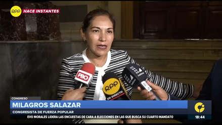 Milagros Salazar: Tarde o temprano