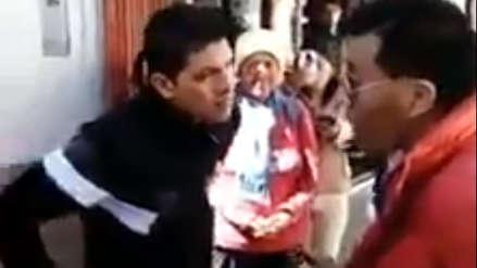 Moisés Mamani: ciudadanos encararon al congresista mientras caminaba por Puno