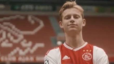 Se va al Barcelona: De Jong se despide del Ajax con un emotivo video