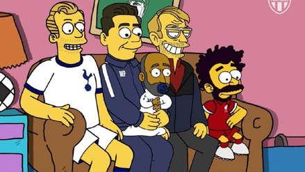 Recrean introducción de Los Simpsons con personajes involucrados en la final de Champions League