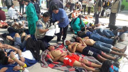 10 imágenes de como se vivió el Simulacro Nacional en el penal de Socabaya de Arequipa