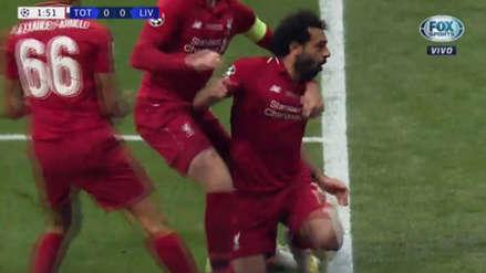 Gol de vestuario: el penal convertido por Mohamed Salah que puso a Liverpool en ventaja ante Tottenham