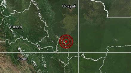 Ucayali   Un sismo de magnitud 4.0 sacudió Atalaya esta noche