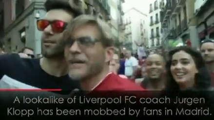Tottenham vs. Liverpool: el clon de Jürgen Klopp fue aclamado previo a la final de Champions