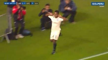 ¡Impecable contraataque! Jersson Vásquez puso en ventaja a Universitario ante UTC con gran gol