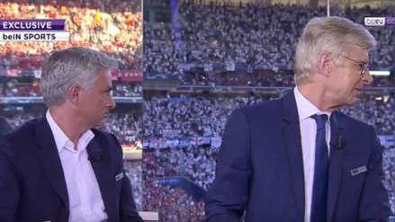 Las reacciones de José Mourinho y Arsene Wenger al escuchar el himno del Liverpool