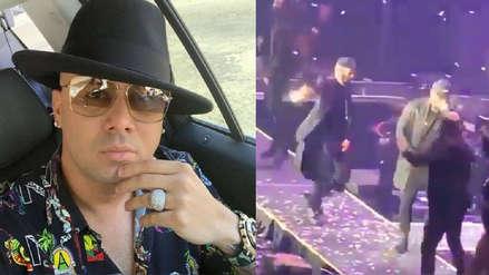 Wisin: La aparatosa caída que sufrió el reguetonero durante un concierto en Texas