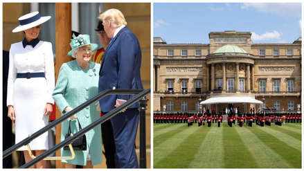 Donald Trump es recibido por la reina Isabel II en el palacio de Buckingham [FOTOS]