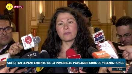 Yesenia Ponce pide que su inmunidad sea levantada: