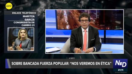 Maritza García tras difusión de chat de Fuerza Popular: