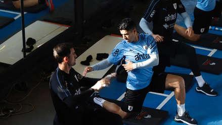 ¡Se alista!: Luis Suárez se incorporó a los entrenamientos de la Selección de Uruguay