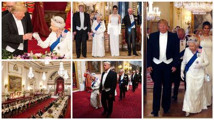 13 fotos que dejó el encuentro entre Donald Trump y la reina Isabel II de Inglaterra