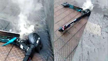 Scooter se incendia repentinamente en Miraflores: MOVO responde sobre el tema