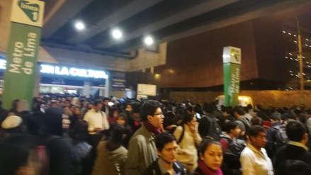 Metro de Lima: Estas son las estaciones en que se suspendió el servicio tras falla de tren en Atocongo
