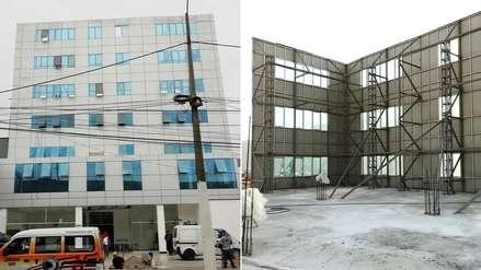 Universidad Telesup colocó una falsa pared para simular que era un edificio de siete pisos [FOTOS]