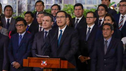 Martín Vizcarra tras aprobación de cuestión de confianza: