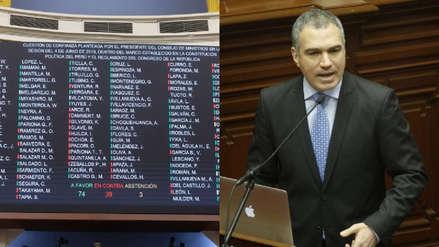 Así votaron las bancadas del Congreso en la cuestión de confianza de Salvador del Solar