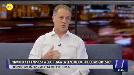 Jorge Muñoz tras robo en túnel de Línea Amarilla: