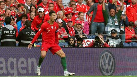 Cristiano Ronaldo: 15 imágenes de la eufórica celebración de CR7 tras anotar  un 'hat trick' en la Liga de Naciones