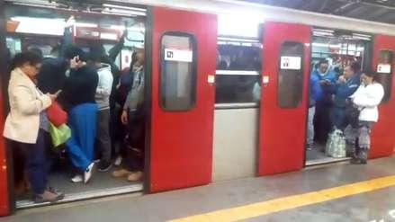 Metro de Lima: Tren se quedó varado cerca a Atocongo y generó caos en estaciones