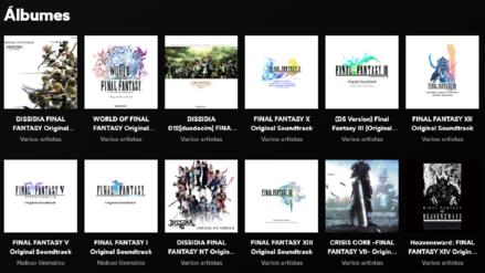 La banda sonora de todos los Final Fantasy llega a Spotify