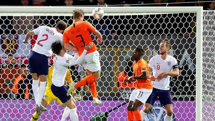 El golazo de cabeza de Matthijs de Ligt en el partido entre Holanda e Inglaterra
