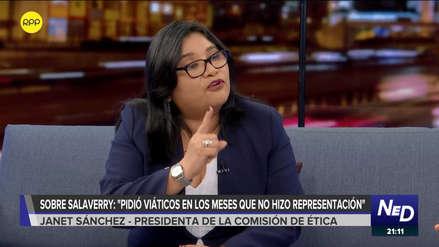 Presidenta de Ética: Nos preocupa rapidez con la que se admitió medida cautelar de Salaverry