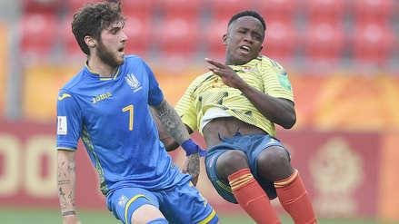 Colombia cayó 1-0 ante Ucrania y quedó eliminado del Mundial Sub 20 en cuartos de final