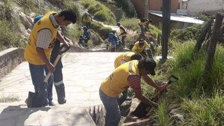 Exreclusos y sentenciados participaron en jornada de limpieza en sitio turístico de Chachapoyas