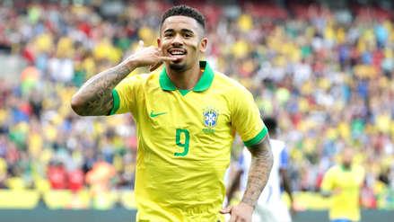 ¡A los 6 minutos! Gabriel Jesús abrió el marcador en el amistoso entre Brasil y Honduras
