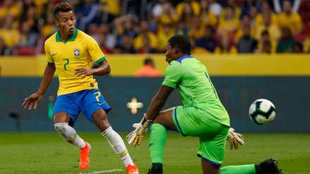¡Soberbio gol! David Neres puso el quinto de Brasil en la goleada del amistoso ante Honduras