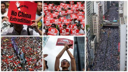 Así se desarrolló la gigantesca manifestación en Hong Kong contra las extradiciones a China [FOTOS]