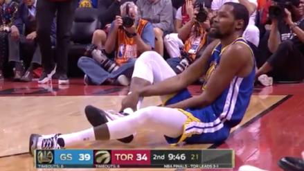 ¡Lo lloran los hinchas de los Warriors! Kevin Durant volvió a lesionarse frente a los Toronto Raptors