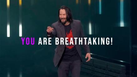 "E3 2019 | Hombre que gritó ""¡Tú eres asombroso!"" a Keanu Reeves recibirá una edición coleccionista de Cyberpunk 2077"