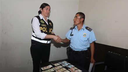 Agente municipal encuentra S/ 530 en la calle y los entrega a la Policía en Trujillo