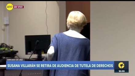 Susana Villarán se retiró de audiencia judicial, luego de saber que su presencia era opcional [VIDEO]