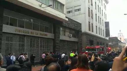 Un incendio se registró en sede de Fiscalía de Lavado de Activos en el Cercado de Lima