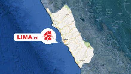 Un sismo de magnitud 4.1 sacudió Lima esta madrugada