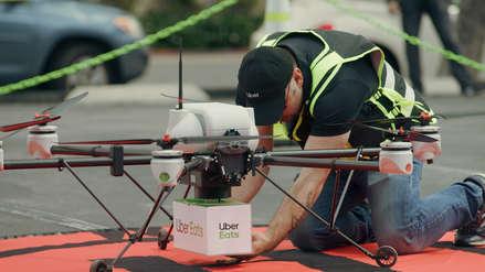 Comida en dron: así será el nuevo sistema de UBER Eats
