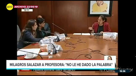 Milagros Salazar hizo callar a una profesora durante sesión de Comisión de Educación