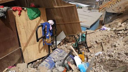 Una vivienda cayó sobre otra en un cerro de San Juan de Lurigancho: dos niñas resultaron heridas