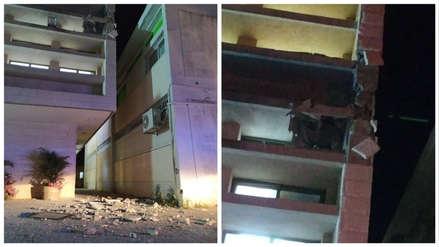 Un cohete disparado desde la Franja de Gaza cayó sobre un edificio en Israel