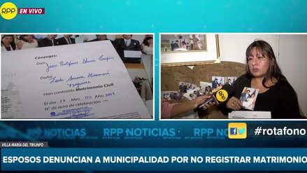Pareja se entera un año después que municipalidad no registró su boda y le ordenan casarse de nuevo