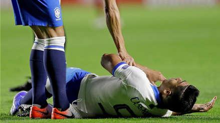 ¡La primera tarjeta de la Copa América! Casemiro recibió un codazo en el partido entre Brasil y Bolivia