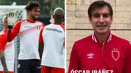 El saludo de Óscar Ibáñez a Pedro Gallese tras convertirse en el arquero con más partidos en la Selección Peruana
