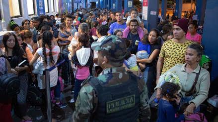 Al menos 8,100 venezolanos ingresaron al Perú en el último día sin exigencia de visa, según la ONU
